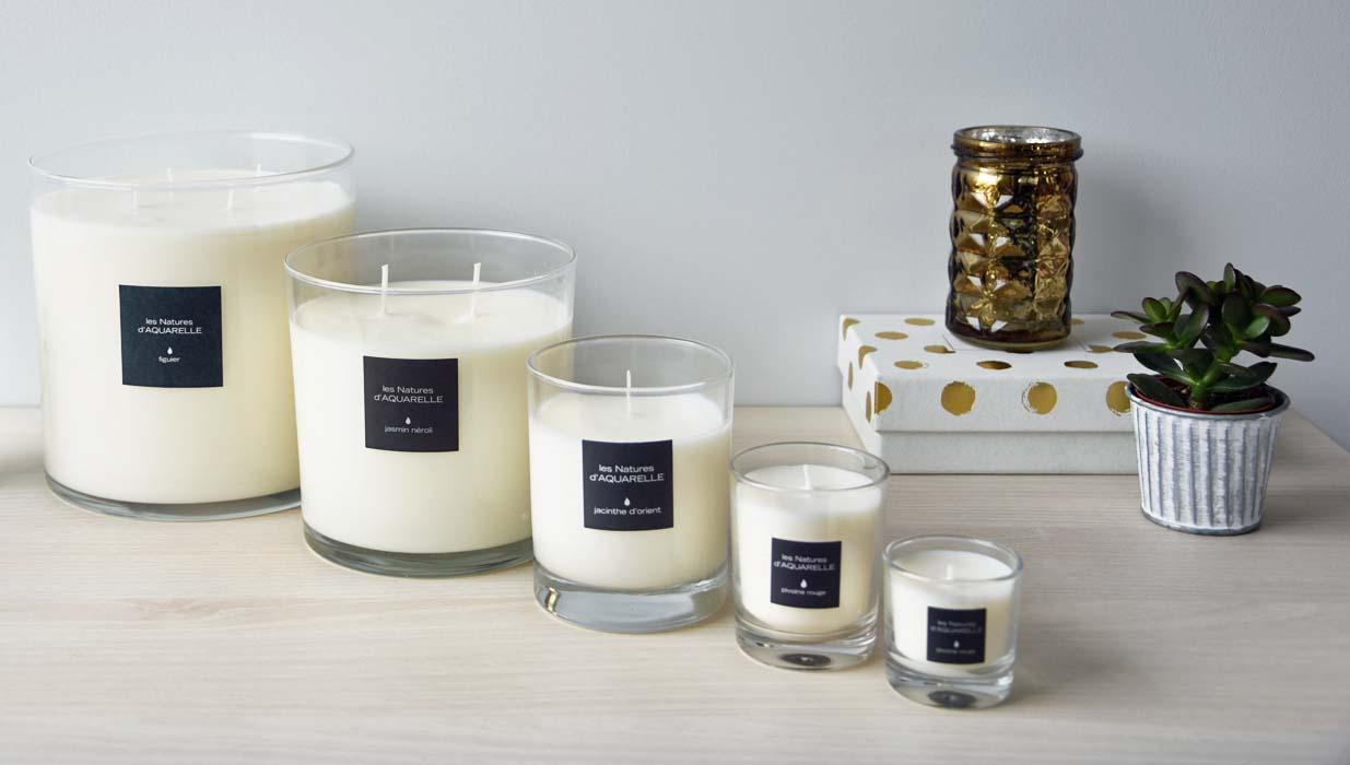 Nos 5 formats de bougies parfumées